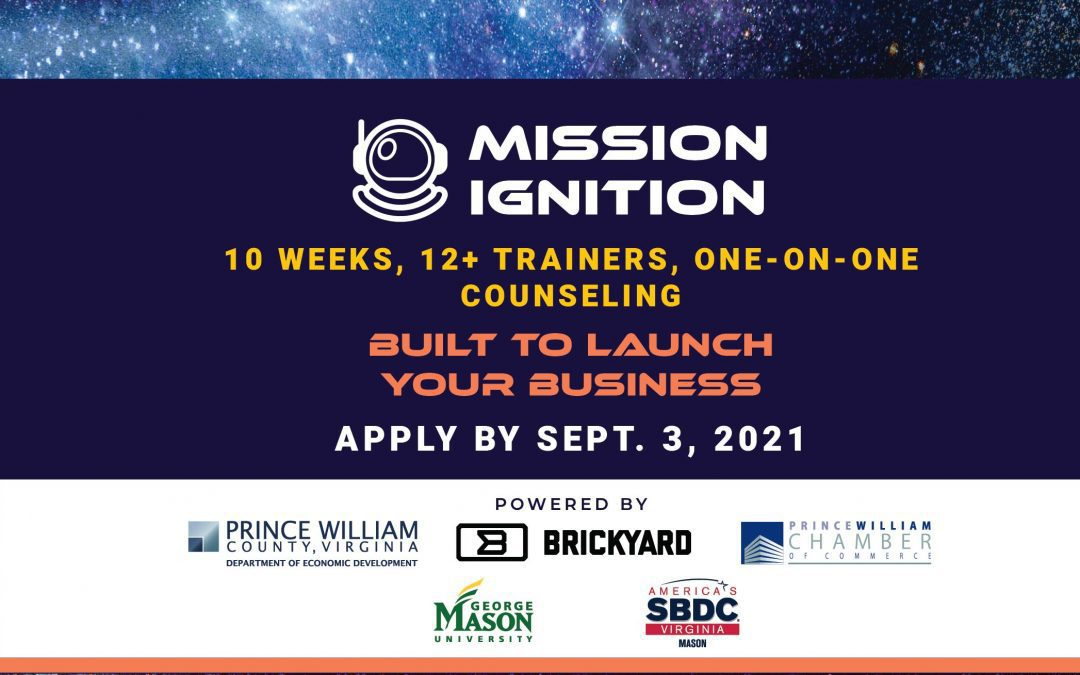 """Large Partnership Venture – """"Mission Ignition"""" – Launches to Help Prince William County Residents Start Their Own Businesses"""